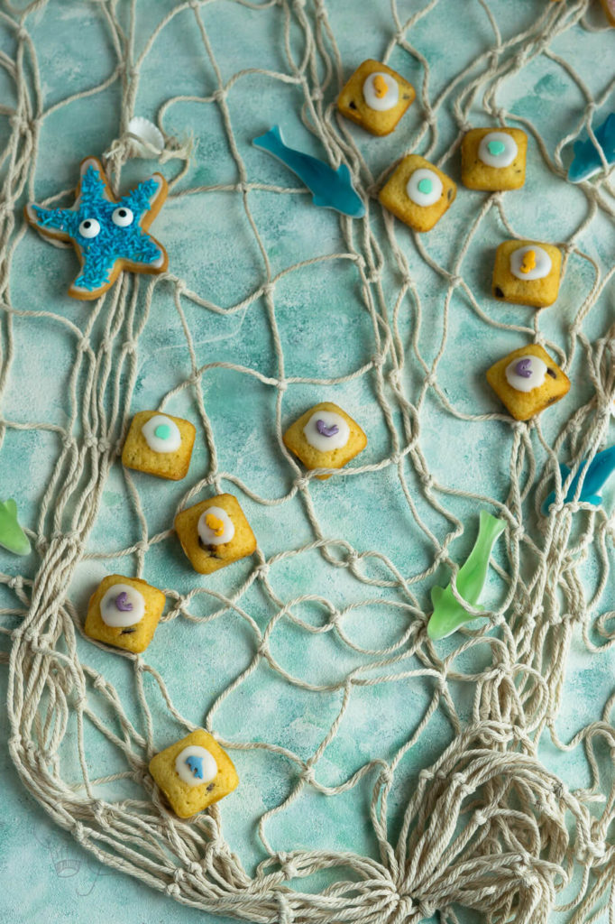 Meerjungfrauen-Kindergeburtstag Muffin Bites