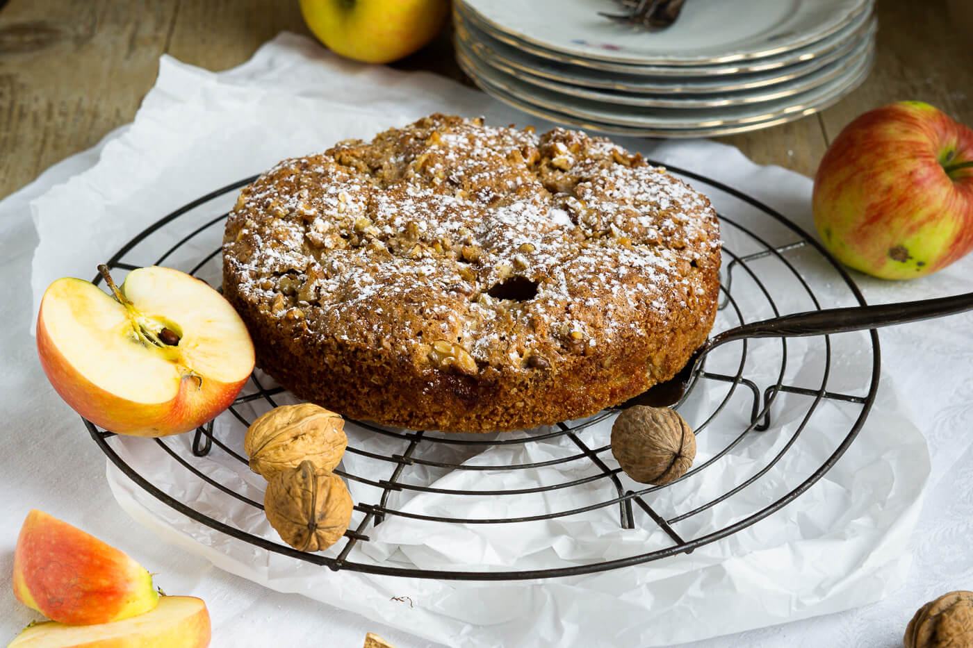 Read more about the article Dinkel-Apfelkuchen – Blogevent