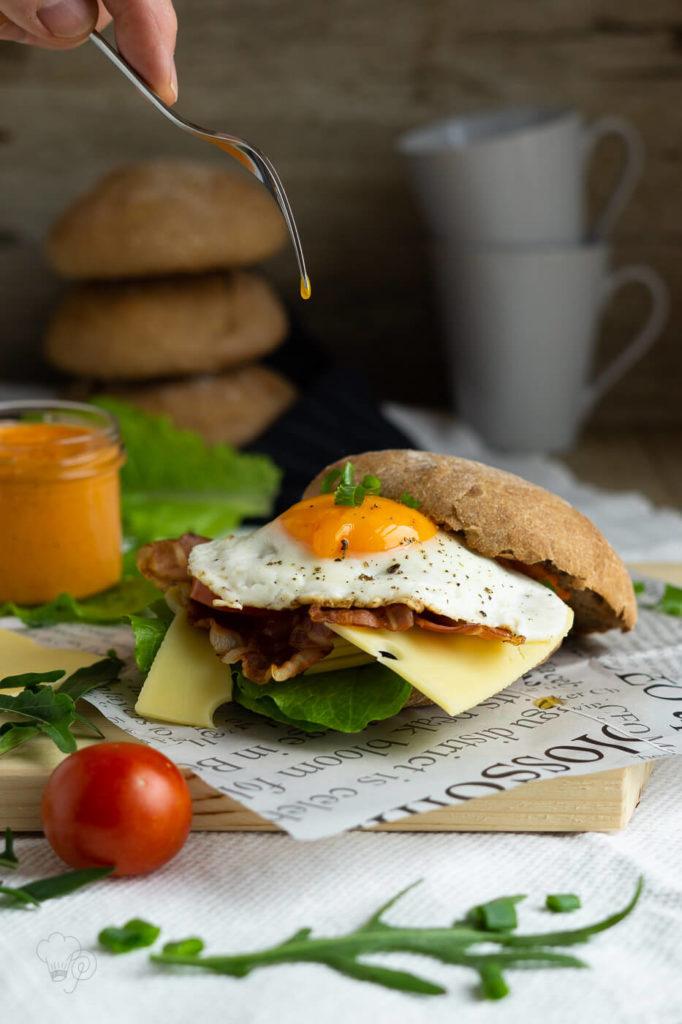 Burger zum Frühstück