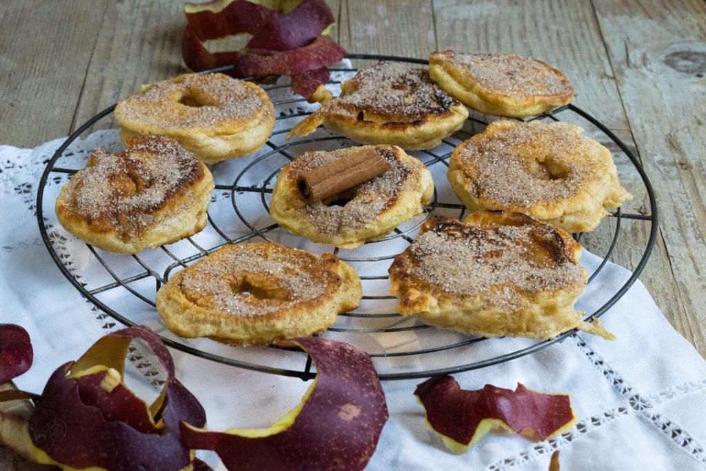 Apfelringe mit Zimt und Zucker