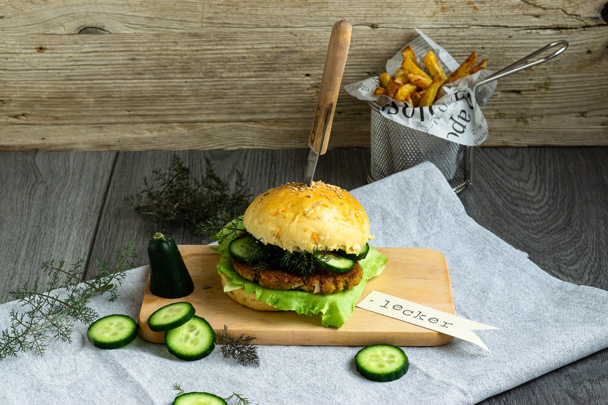 Read more about the article Grünkern Burger mit Frühlingsbuns