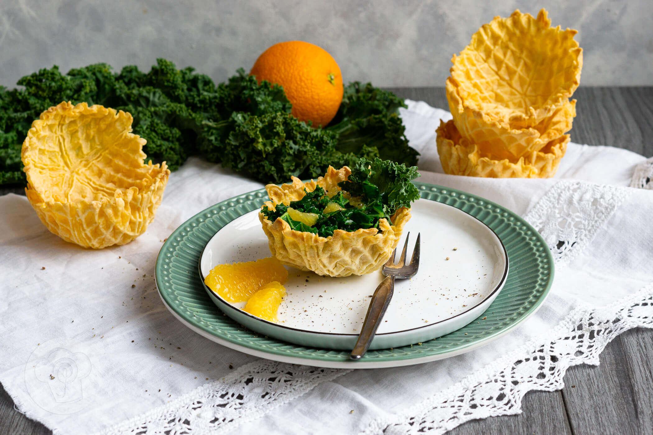 Grünkohlsalat mit Orangen