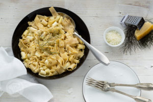 Read more about the article Vegetarische Spargel Carbonara