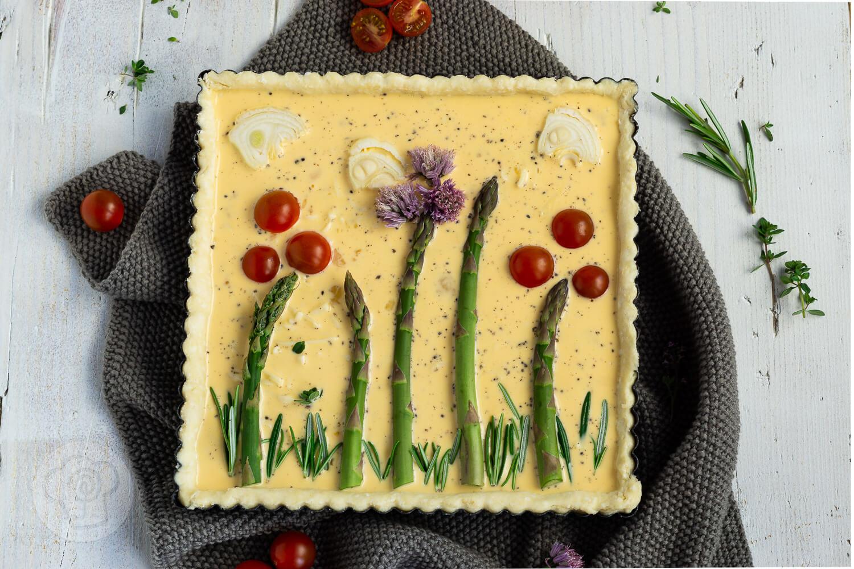Vegetarische Spargeltarte