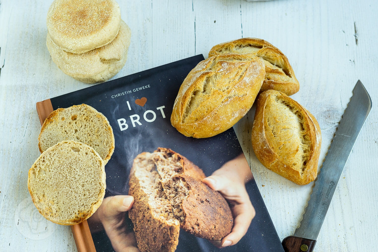 Read more about the article Buttermilch Brötchen – I love Brot