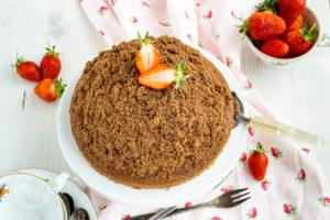 Read more about the article Maulwurfkuchen mit Erdbeeren
