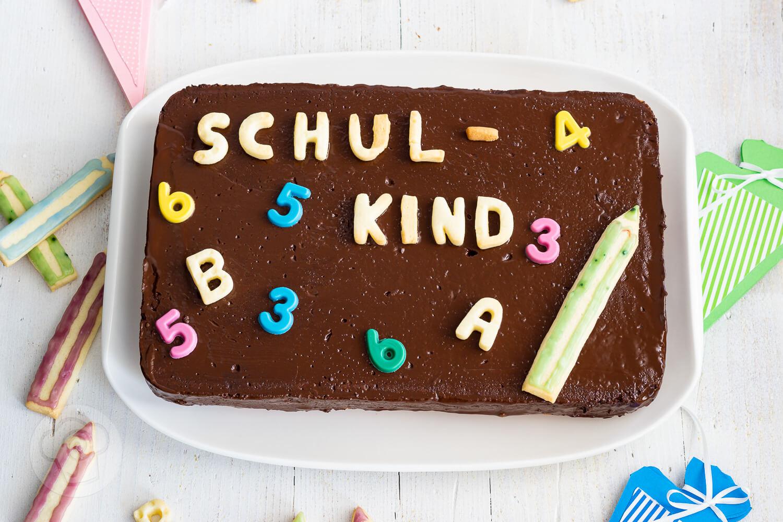 Tafel Kuchen zur Einschulung
