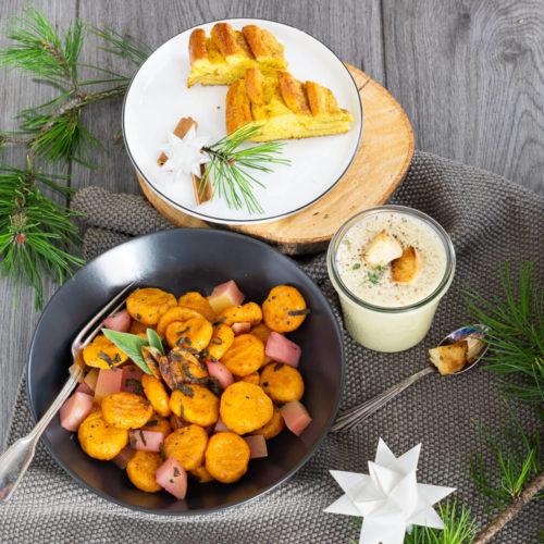 Ideen für ein vegetarisches Weihnachtsmenü
