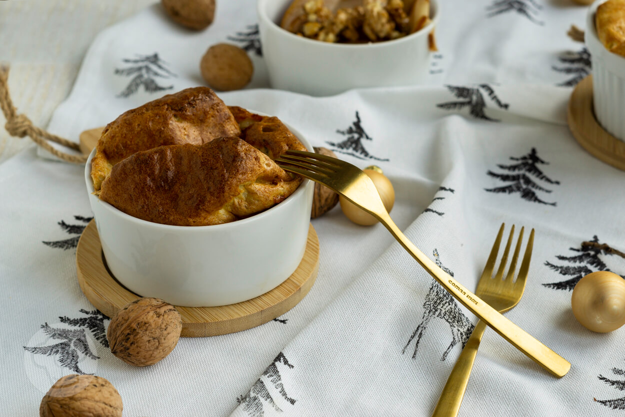 Käsesoufflé mit AOP Fourme d'Ambert