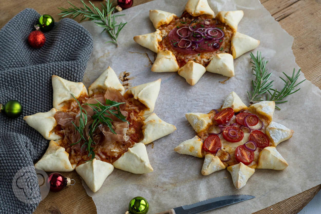 Pizzastern – sternförmiger Pizza Snack
