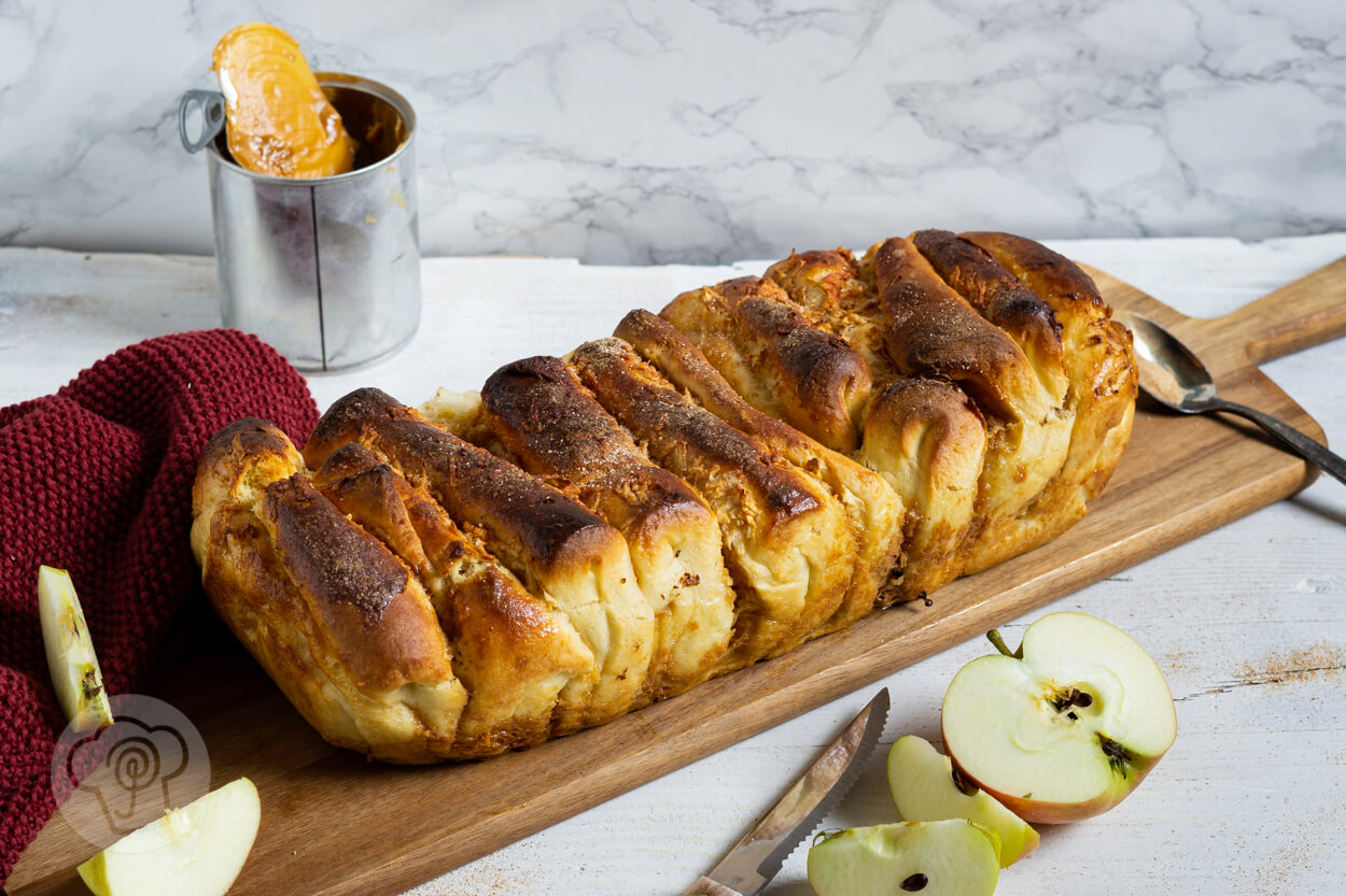 Pull Apart Bread mit Apfel