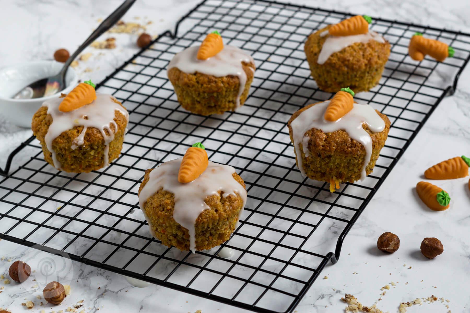 Karottenmuffins für den Osterbrunch