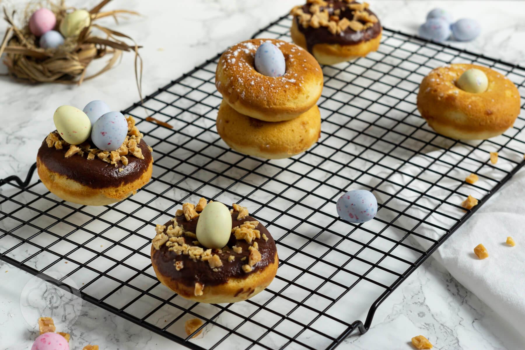 Salted Caramel Donuts aus dem Backofen