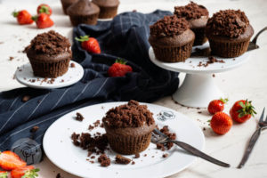 Read more about the article Maulwurf Muffins mit Erdbeeren
