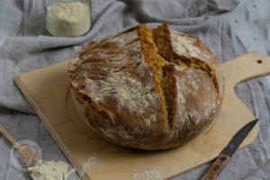 Pane di grano duro als Topfbrot