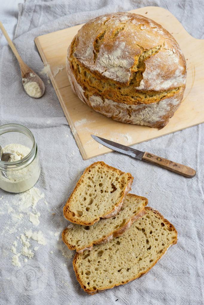 Italienisches Hartweizenbrot - Brotscheiben