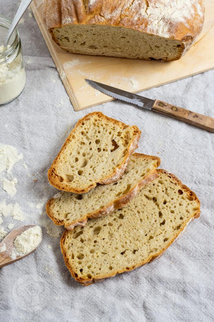 Pane di grano duro (italienischen Hartweizenbrot) - Drei Brotscheiben